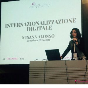 wine2wine Internazionalizzazione digitale Susana Alonso