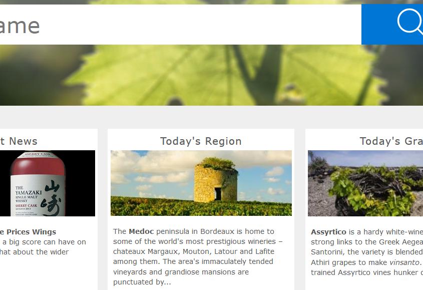 Wine search sito