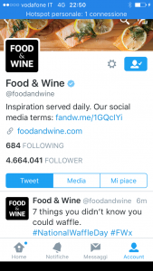 Food and Wine Twitter