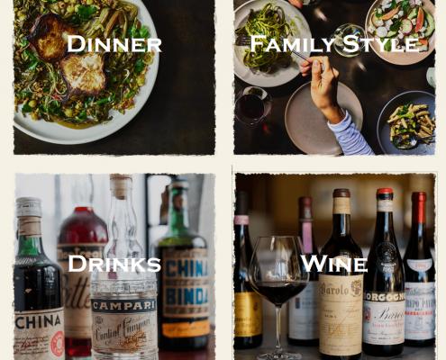 Esempio di Wine list online di Ava Gene