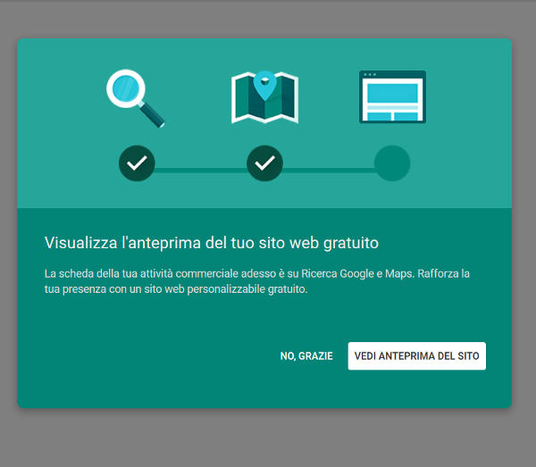 Google My Business Sito Sorsi di web