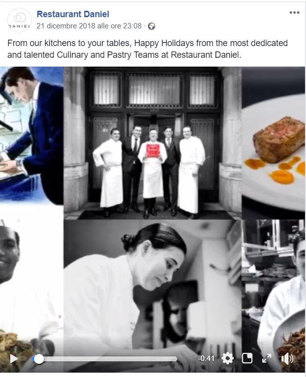Facebook per ristorante