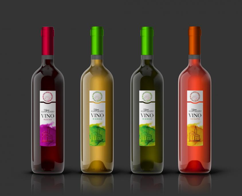 esempio etichette di vino