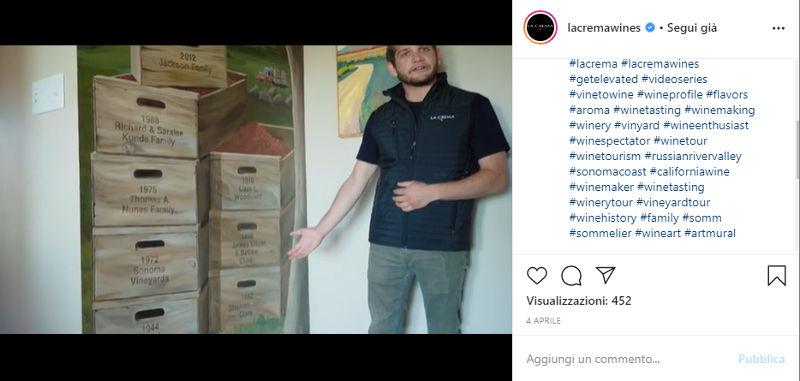 Instagram esempio di La Crema Wines